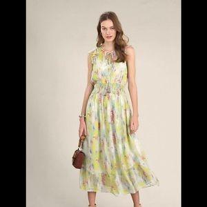 Anthropologie watercolor dress